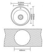 Кухонна мийка INTERLINE Rondo мікродекор - зображення 9