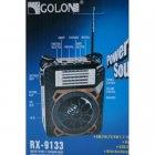 Аккумуляторный портативный радиоприемник FM радио колонка с фонариком и USB выходом Черно-синий Golon (RX-9133) - зображення 2