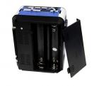 Акустична система радіоприймач FM акумуляторний з USB виходом колонка з радіо Синій Golon (rx-9122) - зображення 3