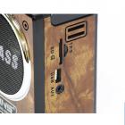 Акумуляторний радіоприймач колонка з USB SD ліхтариком, цифровим FM тюнером Коричневий NNS (NS-904U) - зображення 2