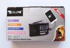 Аккумуляторный портативный радиоприемник FM радио колонка с фонариком и USB выходом Power Bank Черно-золотой Golon (RX-2277) - изображение 4