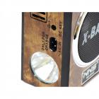 Акумуляторний радіоприймач колонка з USB SD ліхтариком, цифровим FM тюнером Коричневий NNS (NS-904U) - зображення 3
