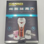 Епілятор бездротовий Gemei GM7002 жіночий акумуляторний з насадками і щіткою Червоно-білий (10317) - зображення 5