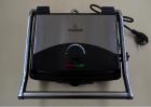 Гриль Crownberg CB-1067 электрический прижимной с терморегулятором 2000Вт Серебристо-черный - изображение 1