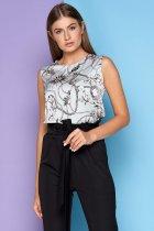 Блузка Jadone Fashion Фиона S (42) Голубая (ROZ6400002301) - изображение 2