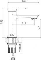 Змішувач для раковини VOLLE Dios New 15121100 - зображення 2