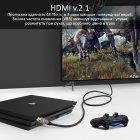 Кабель Promate ProLink8K-300 HDMI 2.1 UltraHD-8K HDR eARC 3 м Black (prolink8K-300.black) - зображення 3