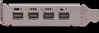 PNY PCI-Ex NVIDIA Quadro P1000V2 4GB GDDR5 (128bit) (1265/5001) (4 x miniDisplayPort) (VCQP1000V2-SB) - изображение 3