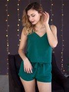 Пижама женская с шортами (майка + шорты) Mito Soft-Touch 50 (XL) Зеленая - изображение 2