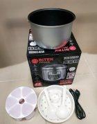 Мультиварка с йогуртницей BITEK 45 программ, 1500 Ватт, 6 литров Серебристая - изображение 4