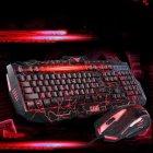 Провідна ігрова клавіатура Atlanfa з 3-я підсвічуваннями і мишкою V-100 Комплект чорний - зображення 4