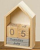 Настольный вечный календарь домик h22см Гранд Презент 1004254 - изображение 1