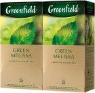 Упаковка чая пакетированного Greenfield Green Melissa 25 пакетиков x 2 шт (4823096805153) - изображение 1