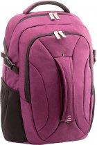 """Рюкзак-сумка деловая 2 в 1 Optima 18.5"""" унисекс 0.7 кг 16-25 л Фиолетовая с выделенными элементами (O96908-03) - изображение 1"""