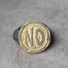"""Бронзова монетка оракул """"Yes/No"""" ручна робота 1055А - зображення 4"""