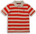 Поло Minoti 1Polost 2 13066 74-80 см Красное с серым (5059030307738) - изображение 1
