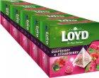 Упаковка чаю Loyd ягідного Малина та полуниця 5 пачок по 20 пірамідок (5900396016228) - зображення 1