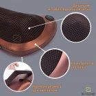 Покращена масажна роликовий подушка для масажу спини, шиї і всього тіла Original Pillow 2PLUS з функціями підігріву від мережі – Інфрачервоний універсальний домашній масажер, BROWN - зображення 8