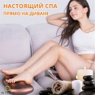 Покращена масажна роликовий подушка для масажу спини, шиї і всього тіла Original Pillow 2PLUS з функціями підігріву від мережі – Інфрачервоний універсальний домашній масажер, BROWN - зображення 9