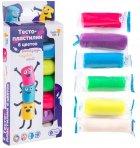 Набор Genio Kids-Art для детской лепки Тесто-пластилин 6 цветов (TA1090) (4814723007439) - изображение 3
