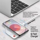 Беспроводное зарядное устройство СolorWay Qi Fast Charger (10W) с LED ночником White (CW-CHW20Q-WT) - изображение 12