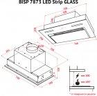 Витяжка Perfelli BISP 7873 BL LED Strip GLASS - зображення 17