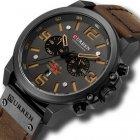 Наручний годинник AlexMosh чоловічі Curren Black-Brown (1016) - зображення 1