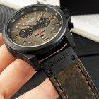 Наручний годинник AlexMosh чоловічі Curren Black-Brown (1016) - зображення 4