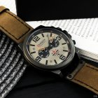 Наручний годинник AlexMosh чоловічі Curren Khaki-Black (1017) - зображення 4