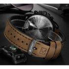 Часы мужские Curren Monreal с кожаным ремешком Черный/Коричневый - изображение 5