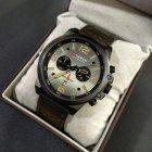 Часы мужские Curren Monreal с кожаным ремешком Черный/Коричневый - изображение 6