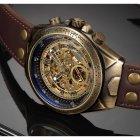 Часы мужские Winner Status механические с автоподзаводом и металлическим браслетом Коричневый - изображение 5