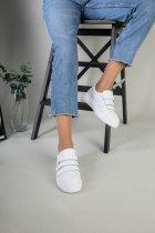 Кеды женские замшевые на липучках LuxuryShoes 7355/38 Белые - изображение 5