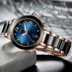 Годинники жіночі Sunkta Ceramic з керамічним браслетом Чорний/Золотистий - зображення 3