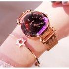 Часы женские Baosaili Cherry с металлическим браслетом + магнитная застежка Черный/Золотистый - изображение 5