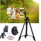 Штатив усиленный в чехле для камеры смартфона фотоаппарата c пультом Yunteng VCT 3388 Black (zhb0453) - изображение 7