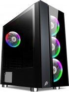 Корпус 1stPlayer B7-E-R1 Color LED Black без БЖ - зображення 1