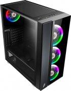 Корпус 1stPlayer B7-E-R1 Color LED Black без БЖ - зображення 2