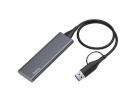 Зовнішній накопичувач SSD Type-C HOCO UD7 256GB Grey - зображення 1