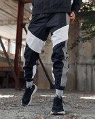 Спортивные штаны Over Drive Split черно-белые с рефлективом XL - изображение 1
