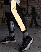 Спортивные штаны Over Drive Split черно-белые с рефлективом XL - изображение 4