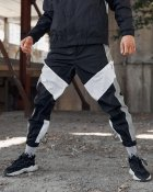 Спортивные штаны Over Drive Split черно-белые с рефлективом XL - изображение 5