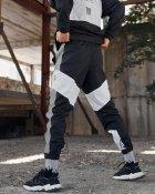 Спортивные штаны Over Drive Split черно-белые с рефлективом XL - изображение 6