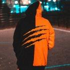 Худи Over Drive Scratch черно-оранжевое M - изображение 2