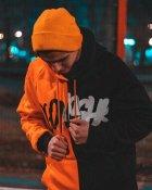 Худи Over Drive Scratch черно-оранжевое M - изображение 4