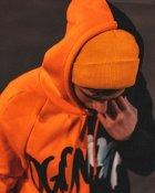 Худи Over Drive Scratch черно-оранжевое M - изображение 6