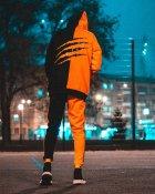 Худи Over Drive Scratch черно-оранжевое M - изображение 9