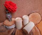 """Набор восковых свечей с цветной вощины """"Айвори"""" Zigrivay (4,5х8,5) 3 шт (10018) - изображение 1"""