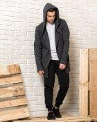 Мантія з капюшоном чоловіча WB розмір XL темно-сіра - зображення 1