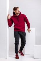 Спортивный костюм для мужчин зимний WB толстовка и штаны классика размер M бордово-черный - изображение 1